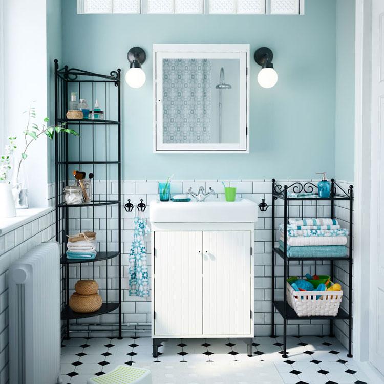 Idee per arredare un bagno shabby chic Ikea n.2
