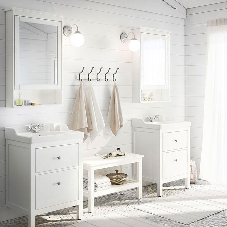 Idee per arredare un bagno shabby chic Ikea n.3