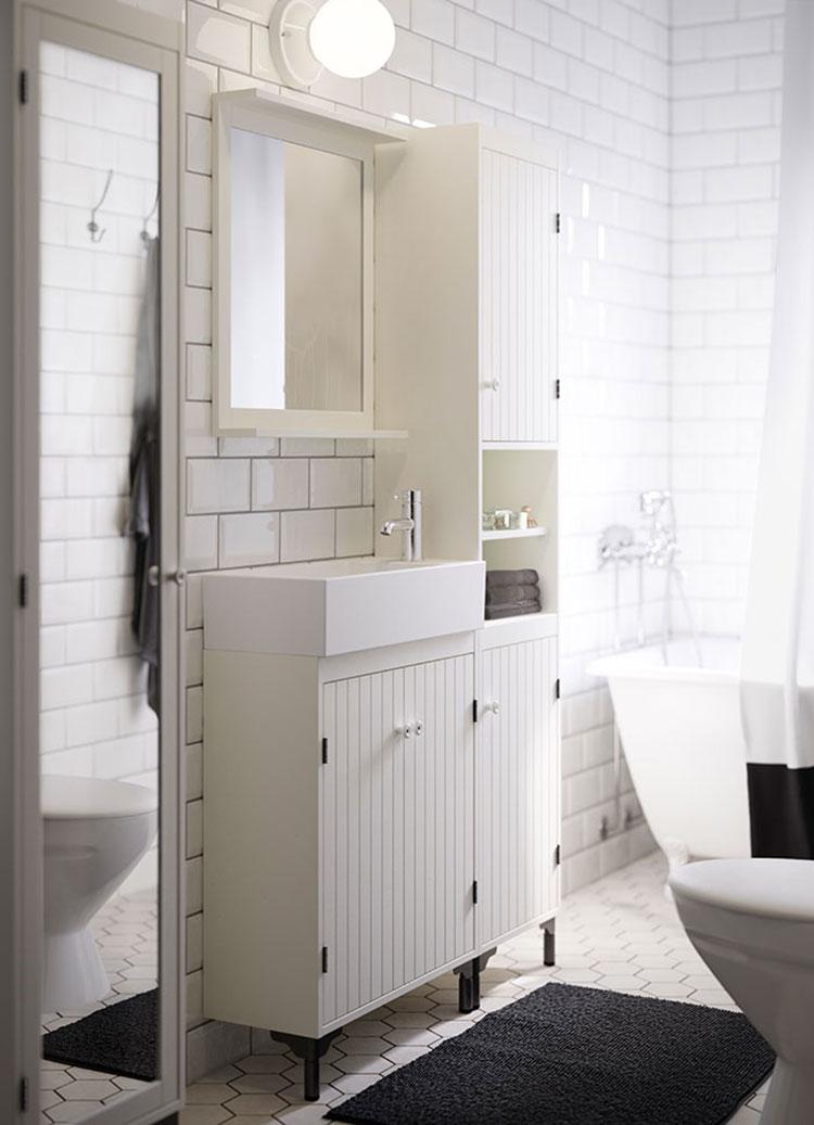 Idee per arredare un bagno shabby chic Ikea n.4