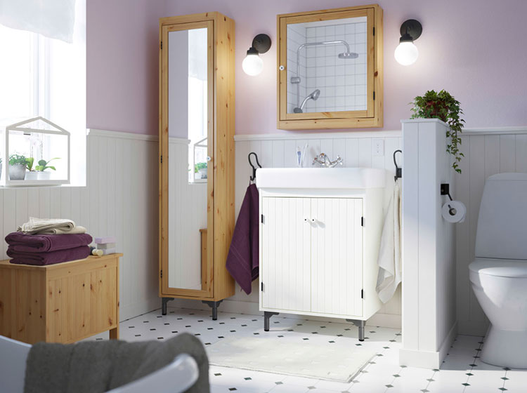 Idee per arredare un bagno shabby chic Ikea n.5