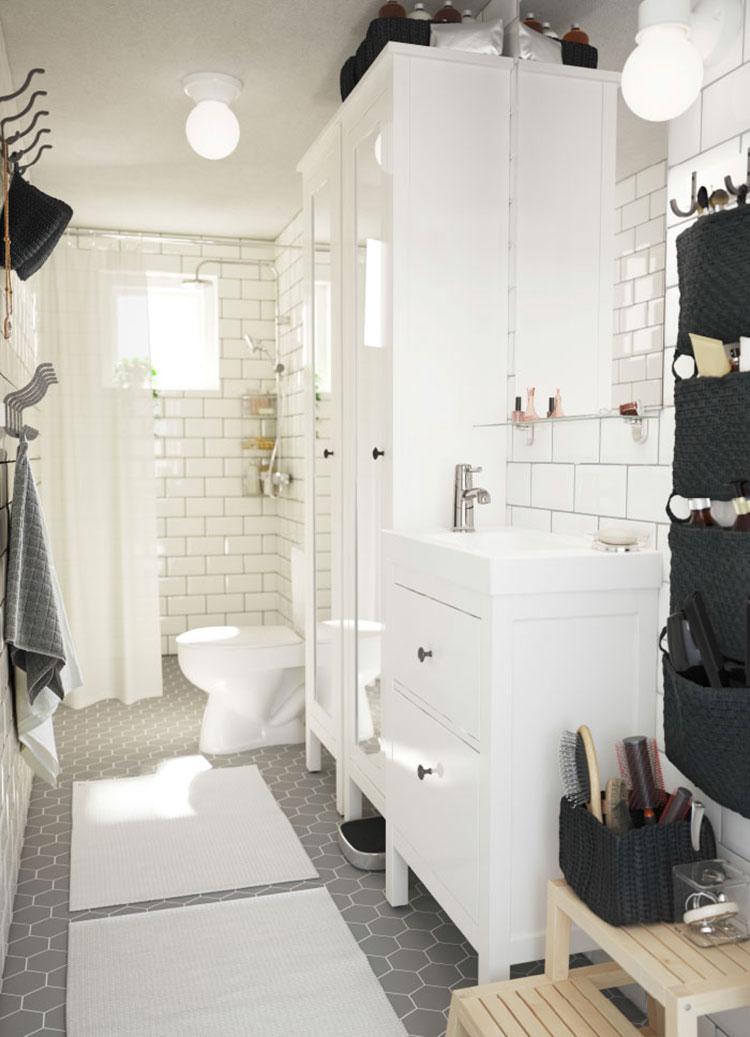 Idee per arredare un bagno shabby chic Ikea n.6