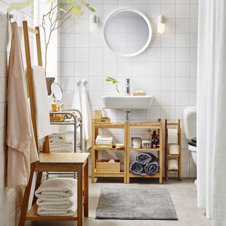 Idee per arredare un bagno shabby chic Ikea n.7