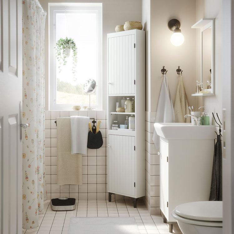 Idee per arredare un bagno shabby chic Ikea n.8