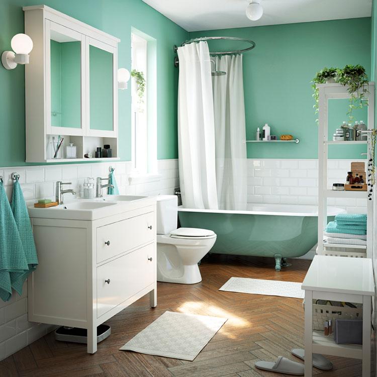 Idee per arredare un bagno shabby chic Ikea n.9