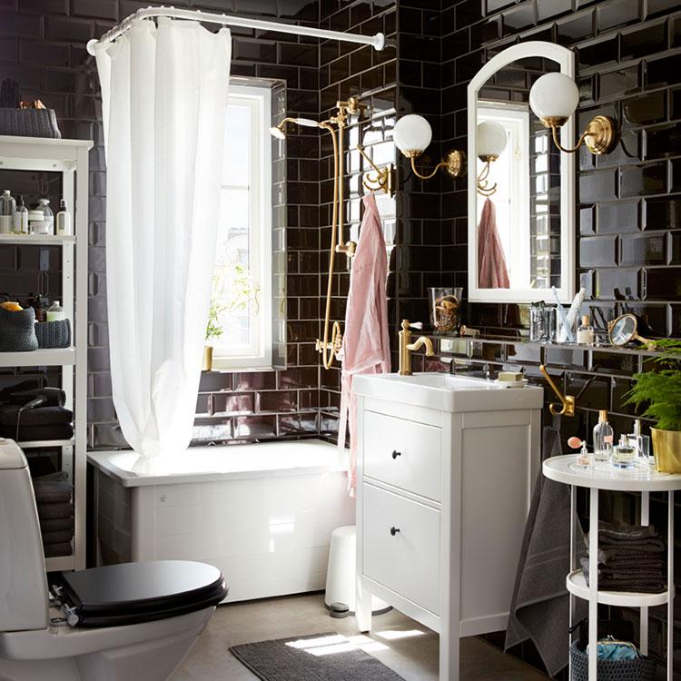 Idee per arredare un bagno shabby chic Ikea n.10