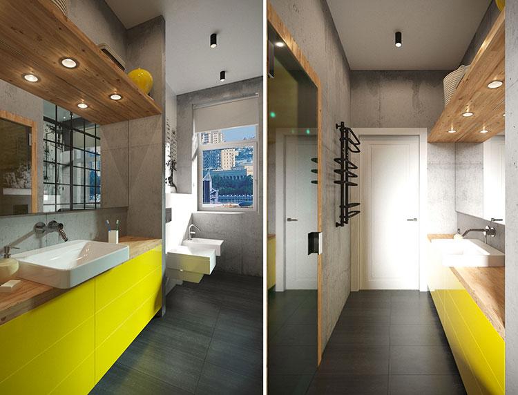 Idee per arredare un bagno stretto e lungo n.2