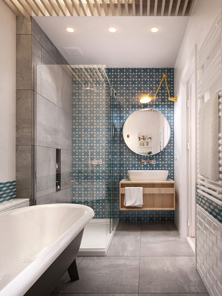 15 idee di design per arredare un bagno stretto e lungo | mondodesign.it