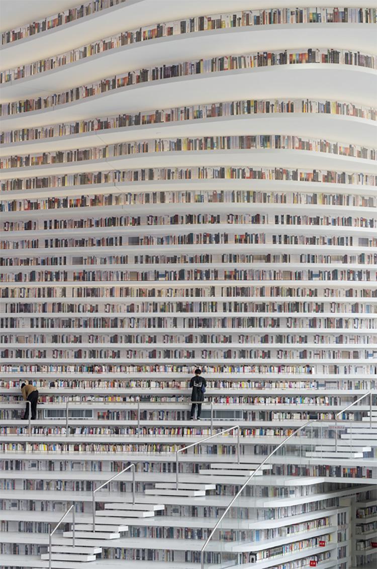 Immagine della biblioteca Tianjin Binhai in Cina n.10
