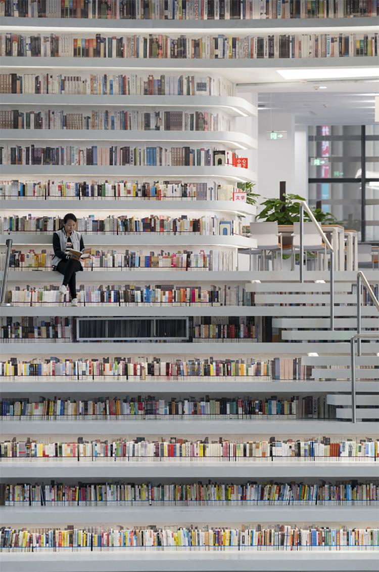 Immagine della biblioteca Tianjin Binhai in Cina n.12