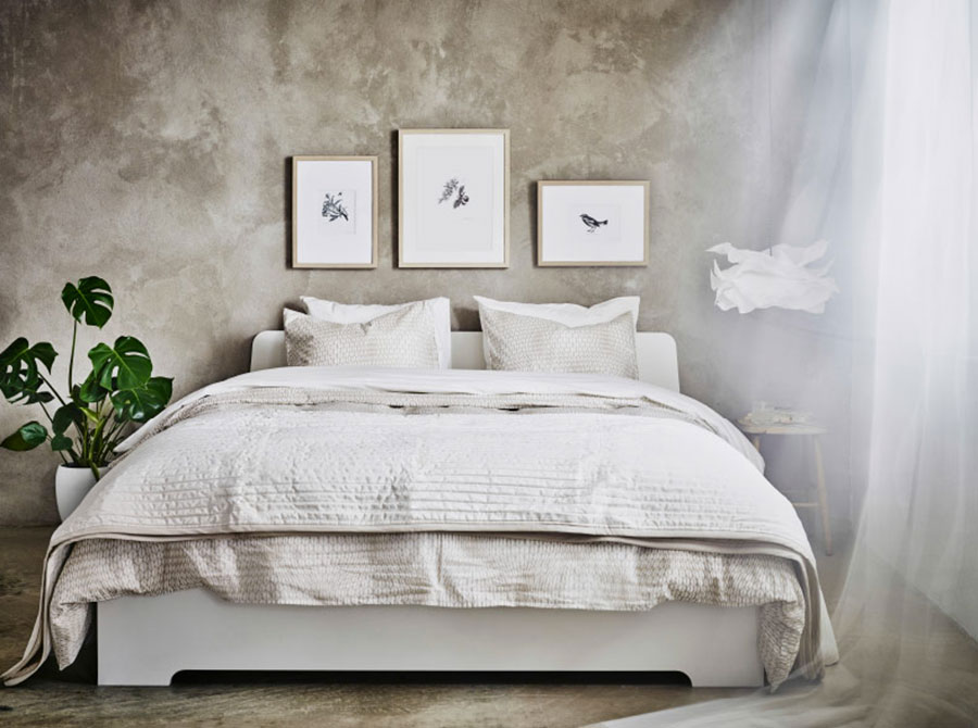 Idee per arredare una camera da letto shabby chic Ikea n.6