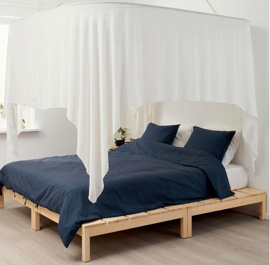 Idee per arredare una camera da letto shabby chic Ikea n.9