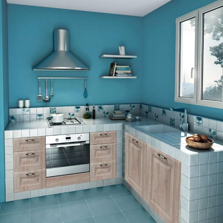 Modello di cucina per monolocale di Leroy Merlin n.5