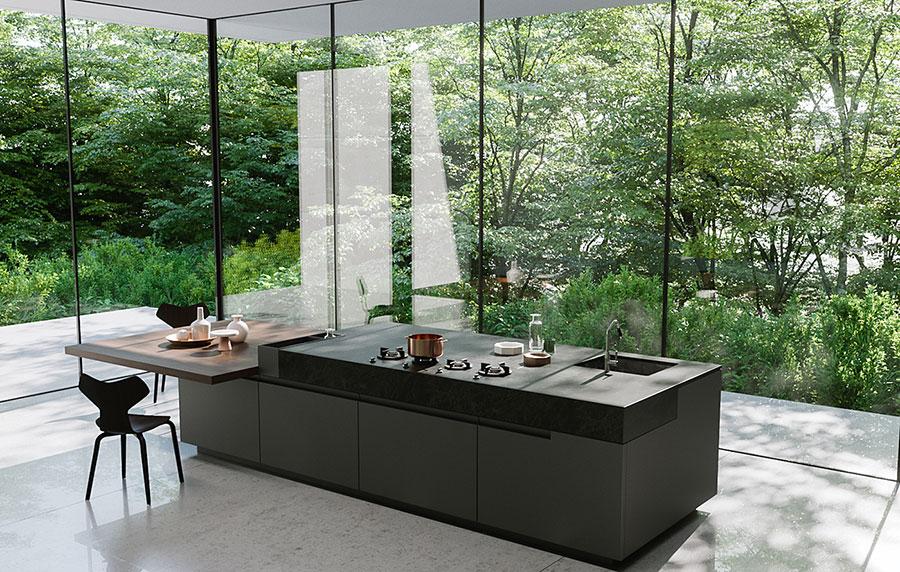 Modello di cucina senza pensili n.07