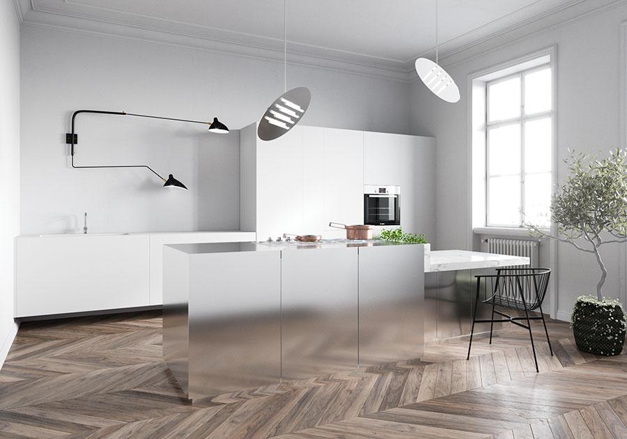 Modello di cucina senza pensili n.11