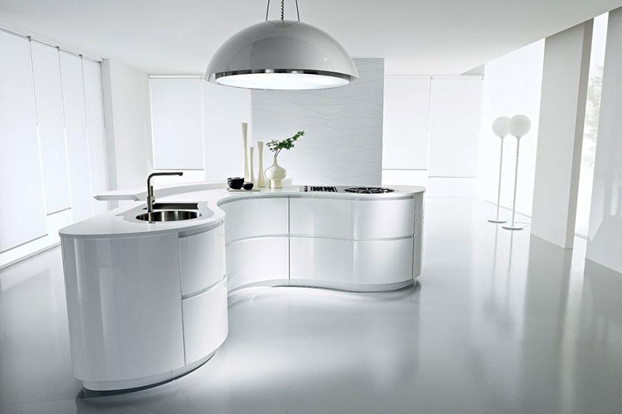 Modello di cucina senza pensili n.15