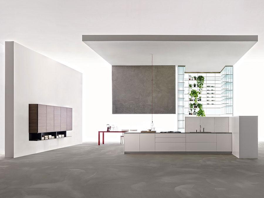 Modello di cucina senza pensili n.17