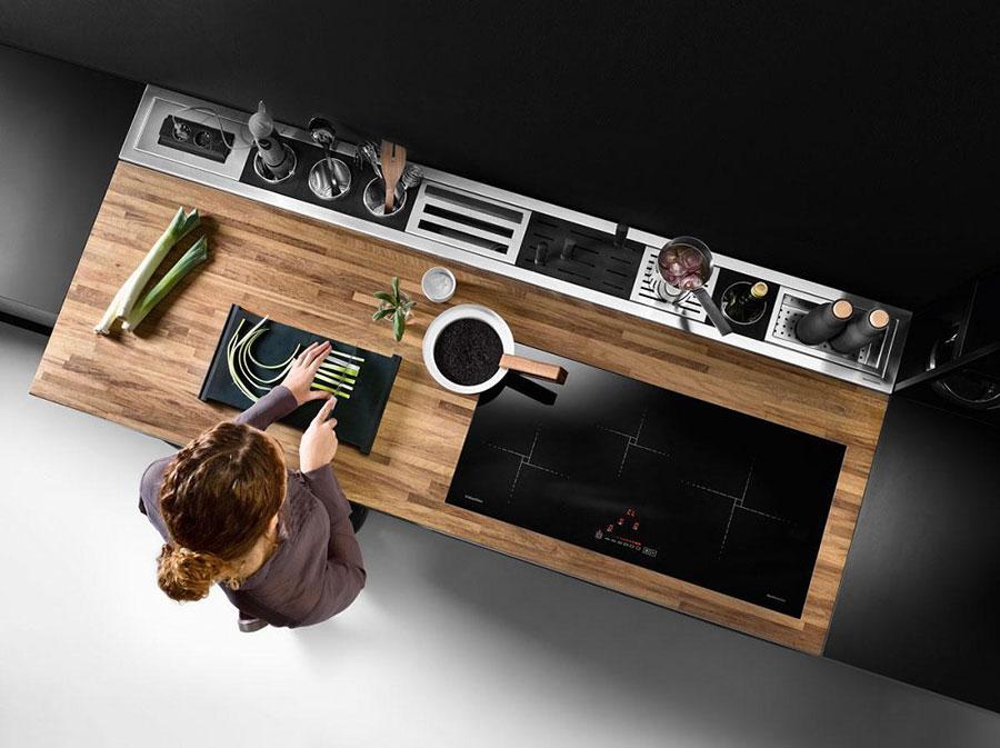 Idee canale attrezzato per cucine senza pensili n.03