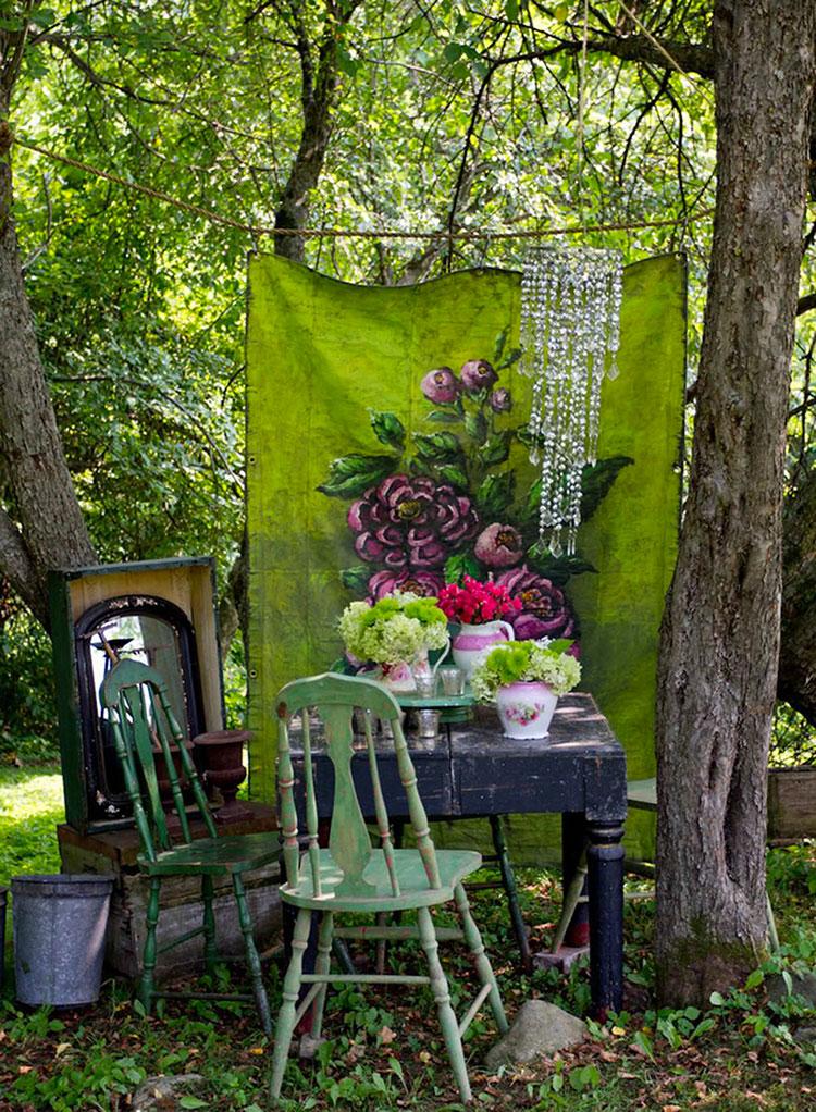Idee per arredare un giardino shabby chic n.06