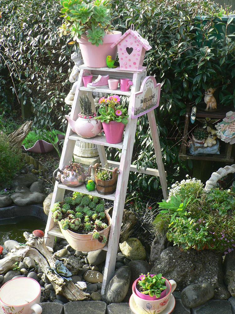 Idee per arredare un giardino shabby chic n.17