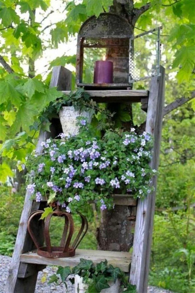 Giardino shabby chic 30 idee di arredamento originali - Idee per arredare un giardino ...