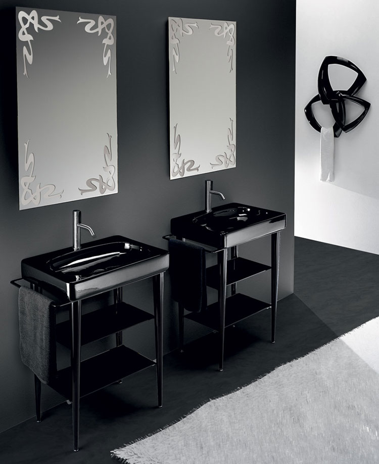 Modello di lavabo nero n.2