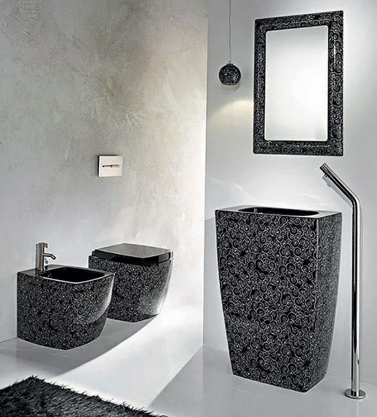 Modello di lavabo nero n.4