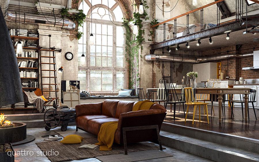 Idee di arredamento per un loft in stile americano n.01