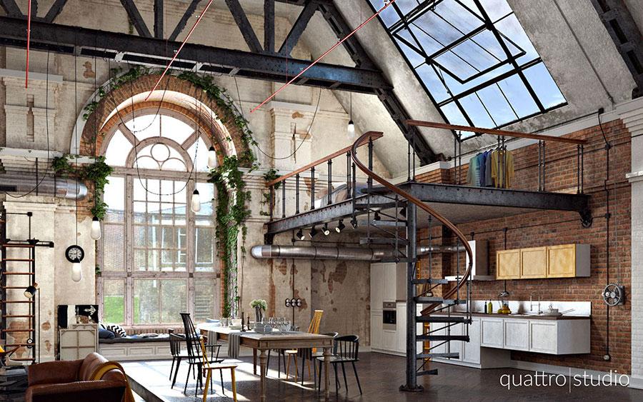 Idee di arredamento per un loft in stile americano n.02