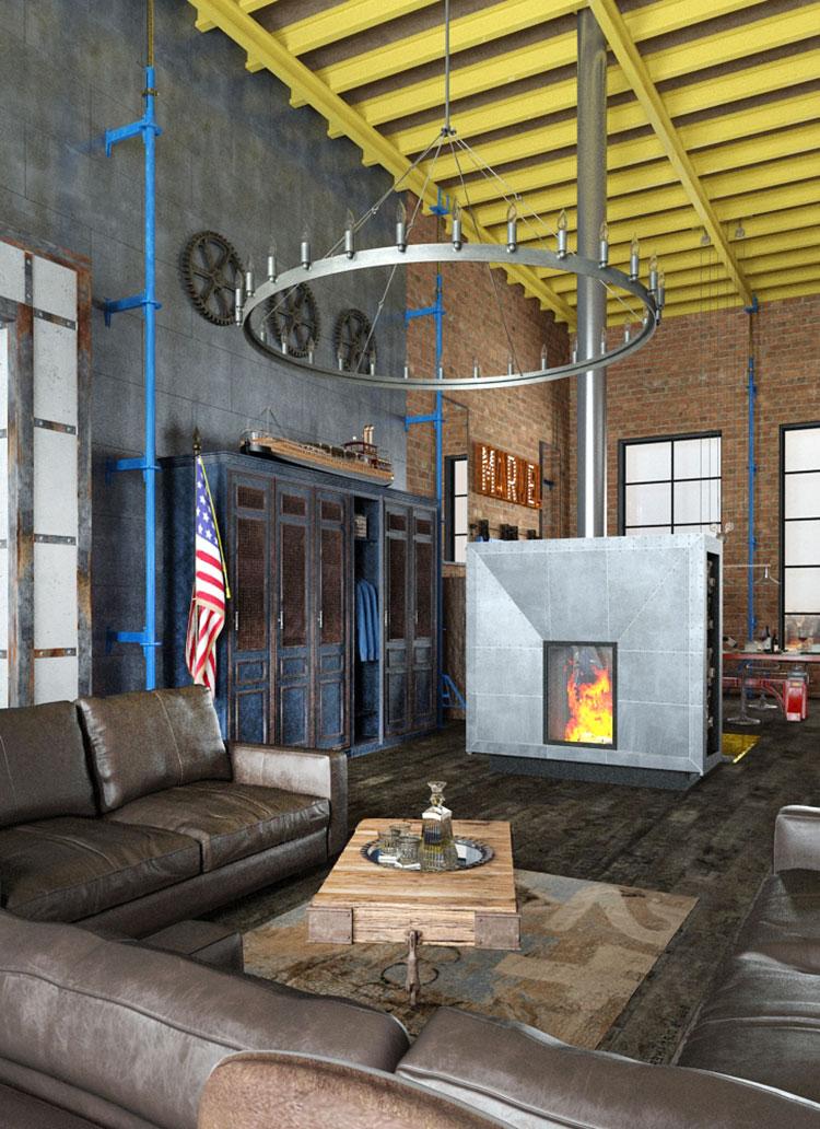 Idee di arredamento per un loft in stile americano n.05
