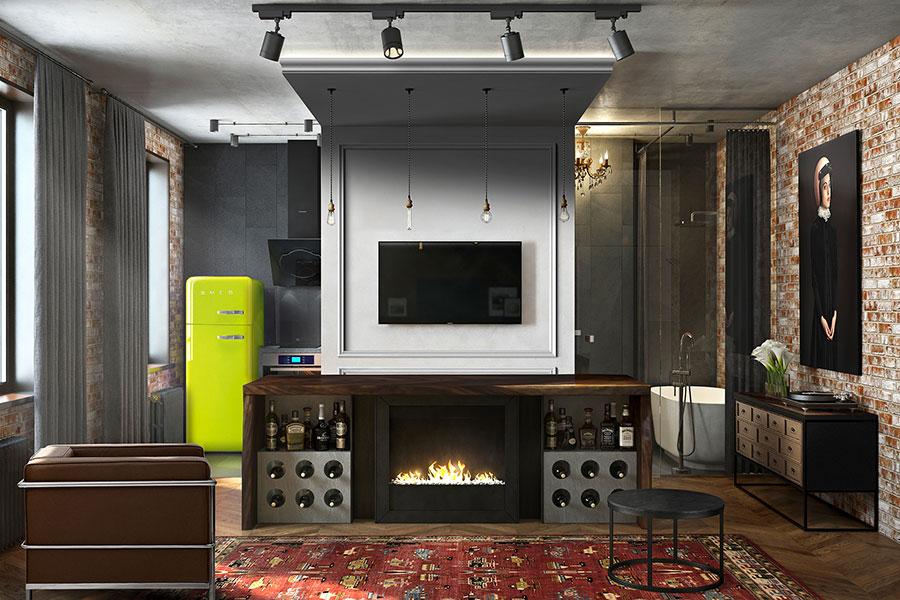 Idee di arredamento per un loft in stile americano n.07