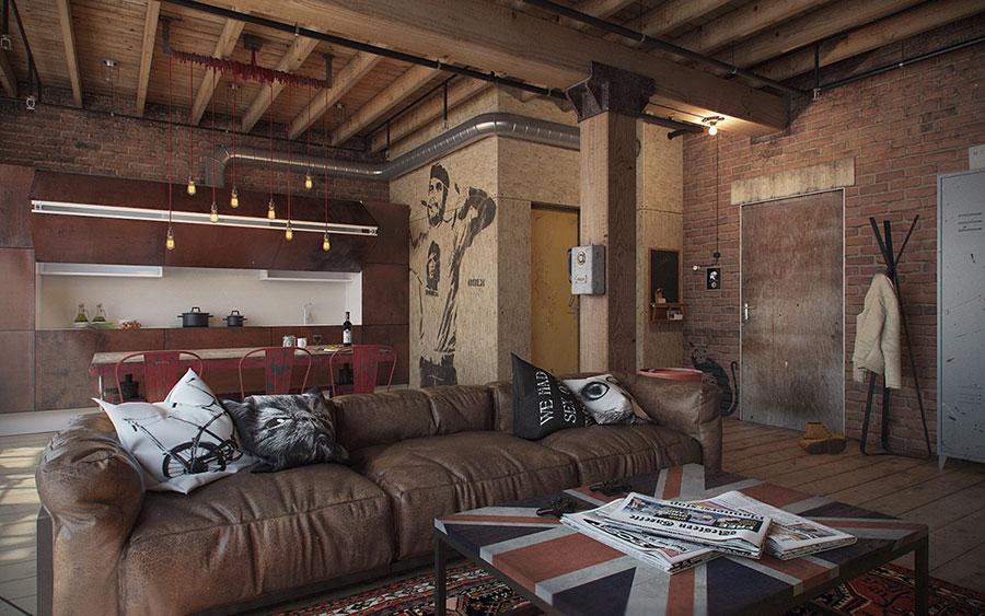 Idee di arredamento per un loft in stile americano n.10