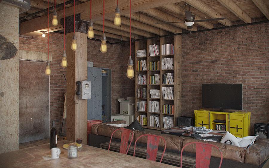 Idee di arredamento per un loft in stile americano n.11