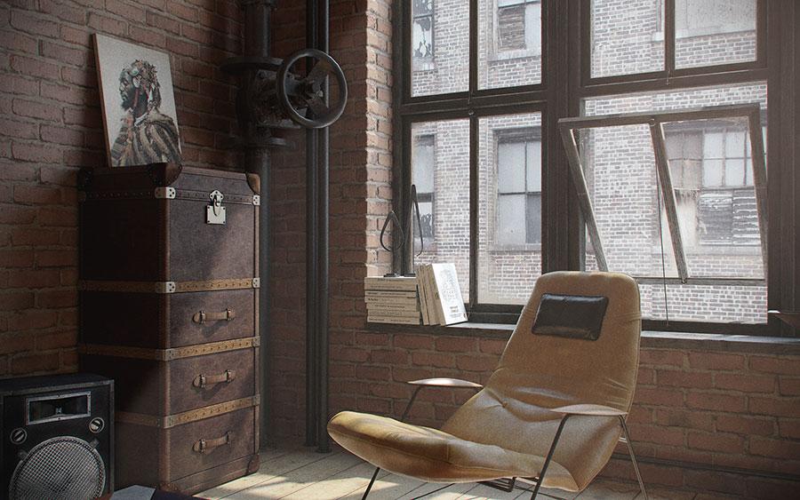 Idee di arredamento per un loft in stile americano n.12