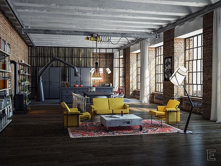 Idee di arredamento per un loft in stile americano n.13