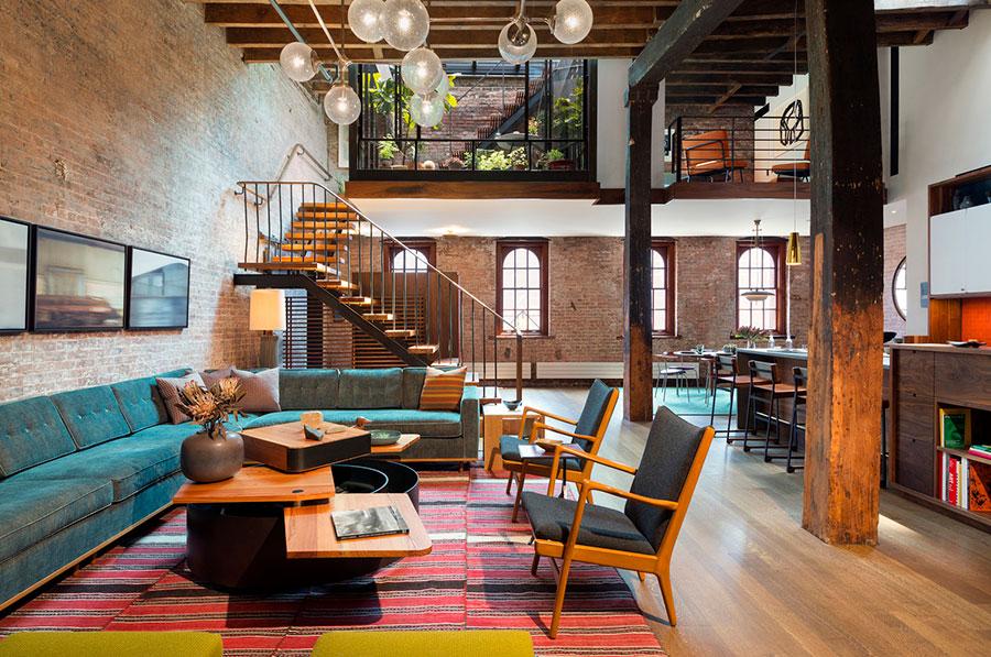 Idee di arredamento per un loft in stile newyorkese n.01