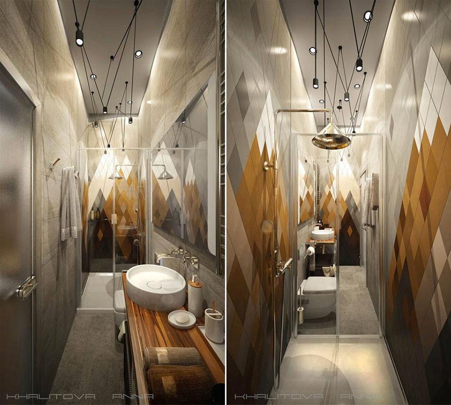 Idee per arredare un bagno stretto e lungo n.1