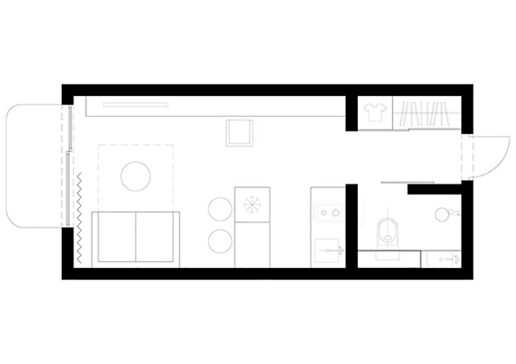 Idee per arredare un monolocale di 18 mq n.1