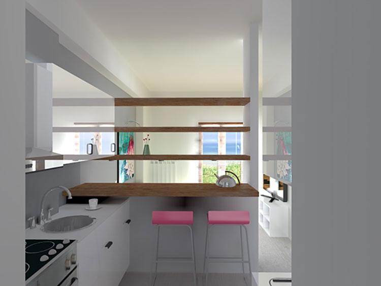Come arredare un monolocale di 15 20 mq ecco 6 progetti for Progetti di arredamento