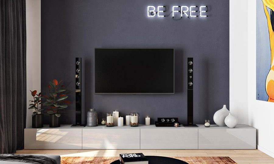 Parete tv 35 idee di arredamento dal design originale for Idee design