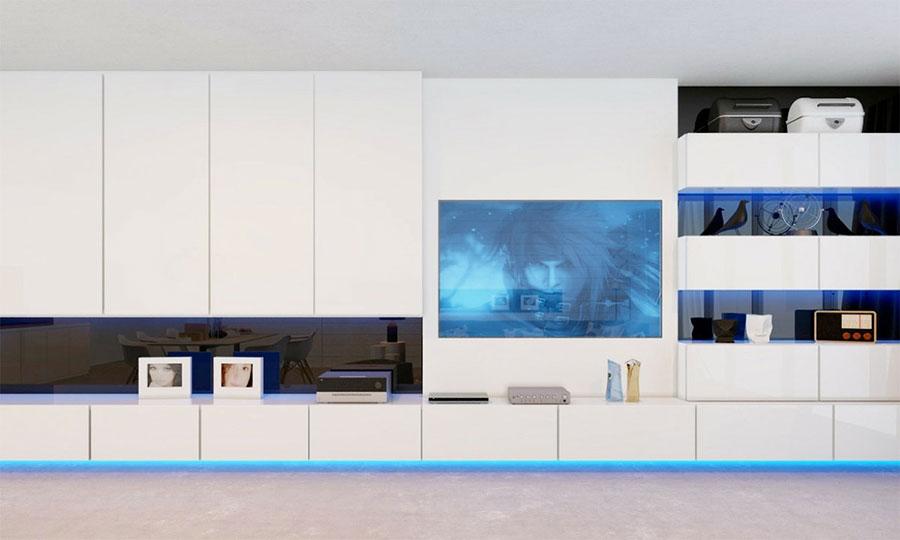 Idee per arredare una parete tv dal design originale n.02