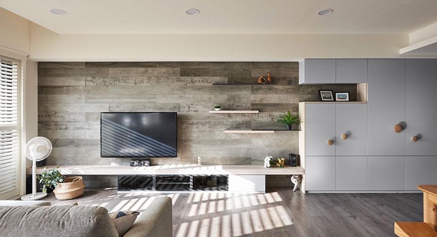Idee per arredare una parete tv dal design originale n.11