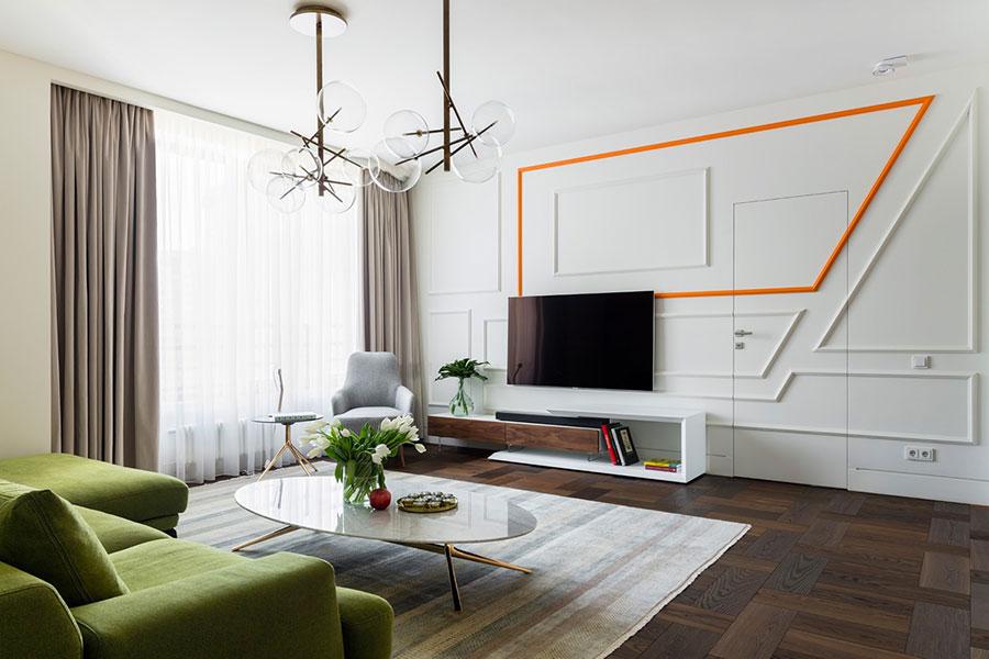 Idee per arredare una parete tv dal design originale n.13