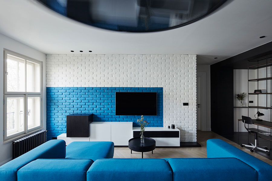 Idee per arredare una parete tv dal design originale n.15