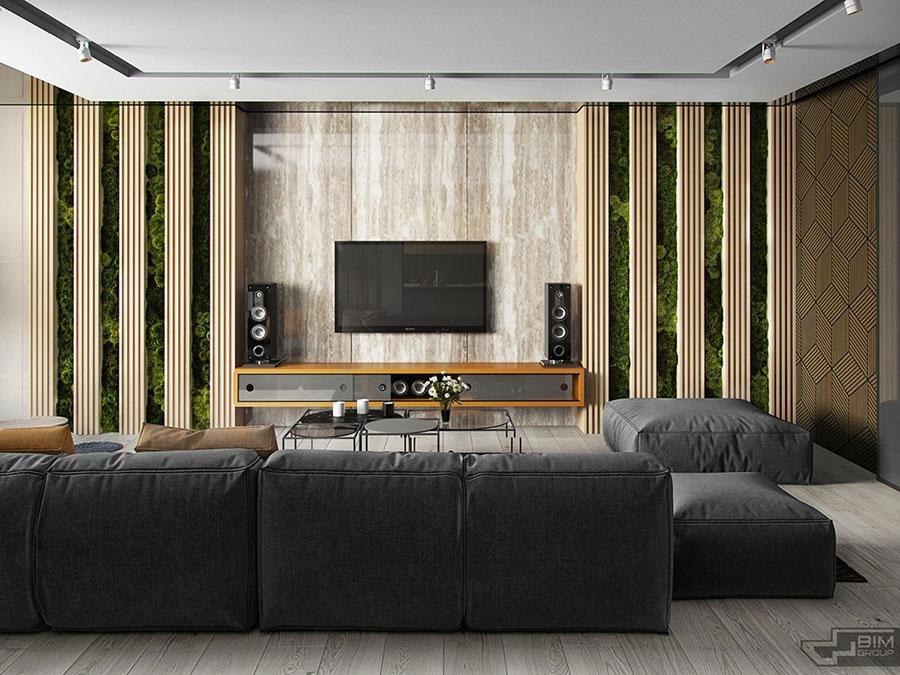 Idee per arredare una parete tv dal design originale n.17