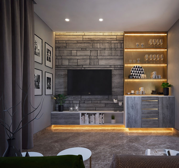 Idee per arredare una parete tv dal design originale n.18
