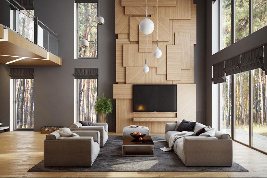 Idee per arredare una parete tv dal design originale n.23