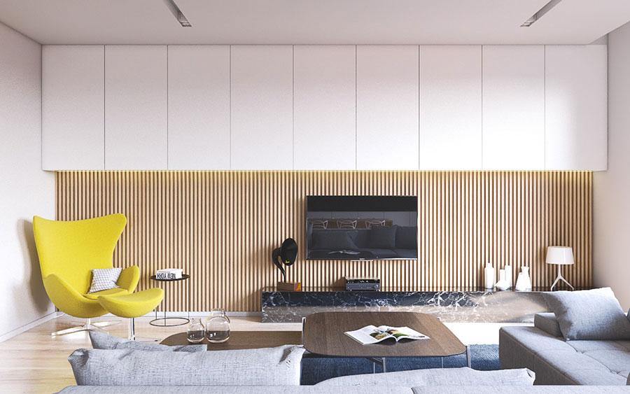 Idee per arredare una parete tv dal design originale n.26