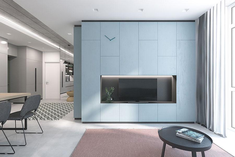 Idee per arredare una parete tv dal design originale n.27