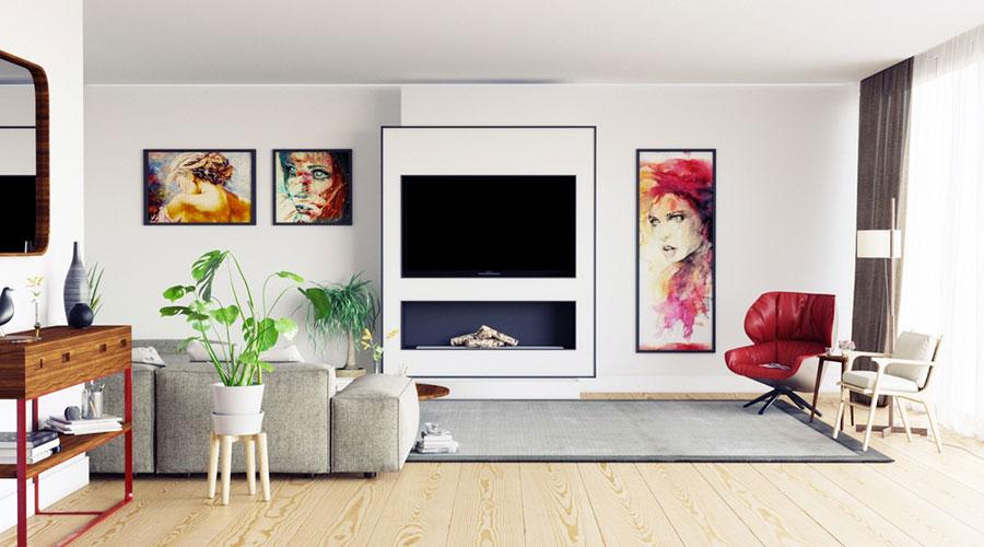 Idee per arredare una parete tv dal design originale n.28