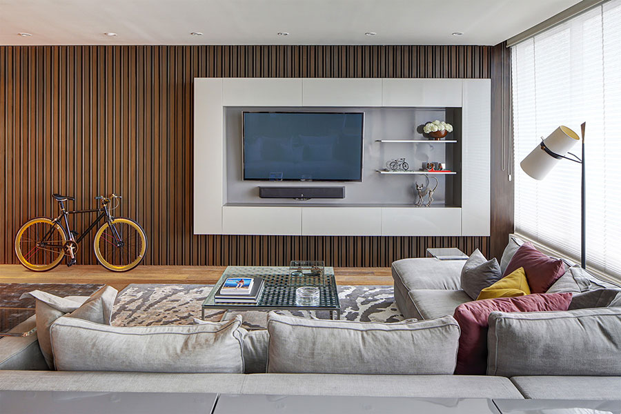 Idee per arredare una parete tv dal design originale n.29